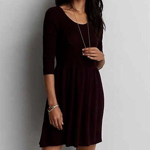 American Eagle Scoop Neck Knit Sweater Dress